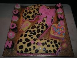 Leopard print 2nd Birthday Cake