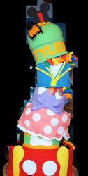 Mickey Mouse Topsy Turvy Cake