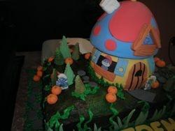 Close-up of Smurf House