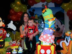 Topsy Turvy Mickey Mouse Clubhouse Cake