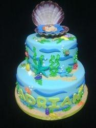 Underwater Themed Baby shower Cake