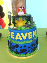 3 Tiered Angry Birds Cake