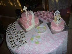 Baby Girl Pink Baptism Cake