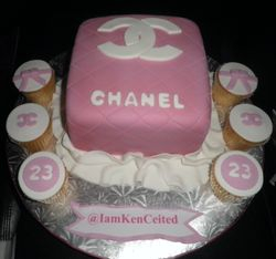 Chanel Cake w/ matching cupcakes