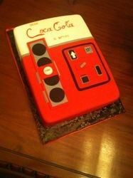 Vintage Cola Vending Machine Cake
