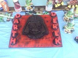 Darth Vader Buttercream Cake w/ Cupcakes