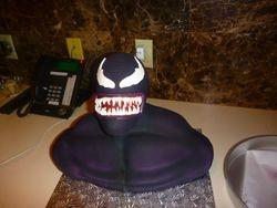 Venom Bust Cake