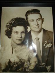 Helga Martha Deal & Durwood Allan Deal on their Wedding Day