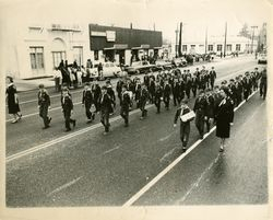 1961 Armistice Day Parade downtown Bakersfield