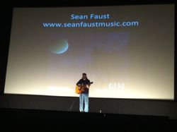 Sean Faust performs