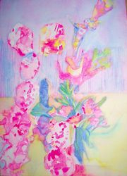 """Rose Lullaby"" Wt/Col 21cm x 30cm"