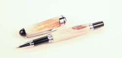 Euro roller ball deer antler pen w/chrome hardware