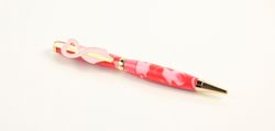 think pink 7mm camoflauge breast cancer awareness ballpoint pen