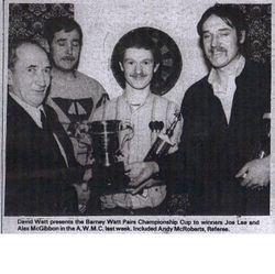 joe Lee & Alex McGibbon 1984 Pairs Champions