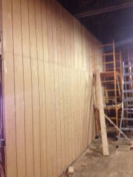 Existing Wall Sheeted