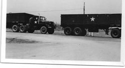 Convoy waiting to load at Camp Friednship.