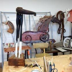 Thenew studio, one wall of stuff.