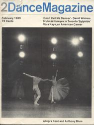 Cover of Dance Magazine, featuring David, Bruhn & Nureyev, and Nora Kaye.)