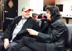 David reuniting with Alice Cooper in Feb 2015 (Photos courtesy of David Winters_