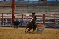 Me running King at Davie Rodeo Arena