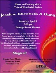 Invitation to Jessica's concert
