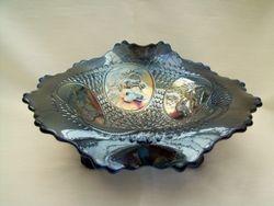 Horse Medallion JiP ftd bowl - blue