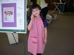 Rachel modeled all the dresses