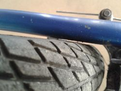 BMX Tyre Clearance Front Wheel
