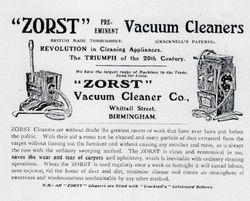 Vacuum Cleaner. c1905