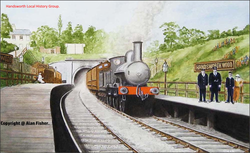 Station, Handsworth Wood, 1920s.