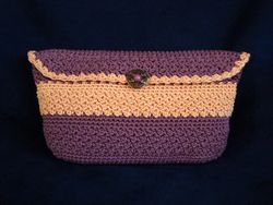 Lavender and Peach Small Clutch Bag