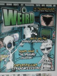 Feb. 2012 edition of Weird Magazine (U.S.A)