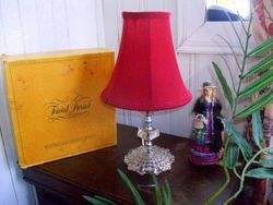 Vintage Lamp with Glass bottom