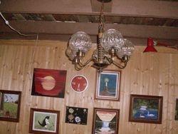 Vintage Glass ChandelierSOLD
