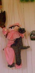 Vintage 1980's clown on a swing