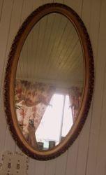 Large Vintage Oval Mirror SOLD