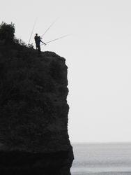 Locals fishing Balangan Cliffs