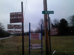 Amish directional sign