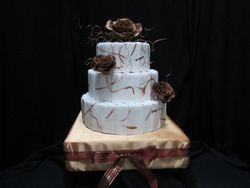 Brown Rose Cake