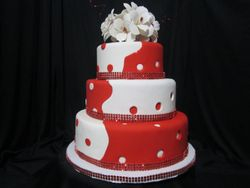 Red/White Christmas cake