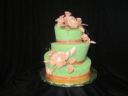 Pleated Flower Cake