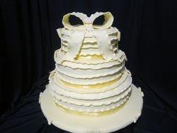 yellow ruffle cake