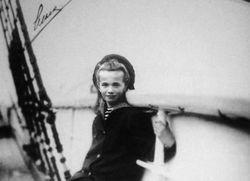 "HIH Grand Duchess Olga On ""Her"" Boat"