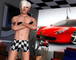 Vanity: Underwear Model