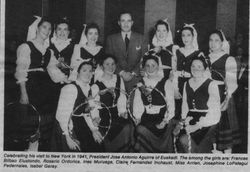 1941 NY girl dancers with Aguirre