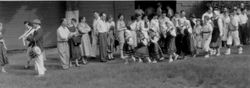 1956 NY dancers entrance at picnic