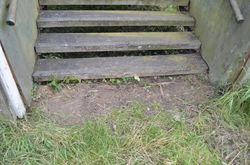 Bottom of the steps has been cleared