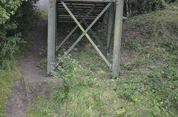 Area cleared around footnridge