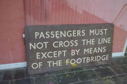 Original Hammerwich Station Sign