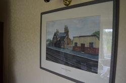Hammerwich Station Painting inside the former Station building
